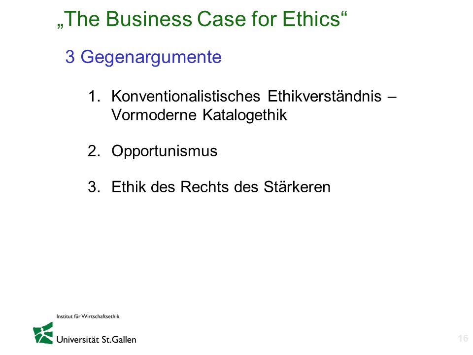 """The Business Case for Ethics"