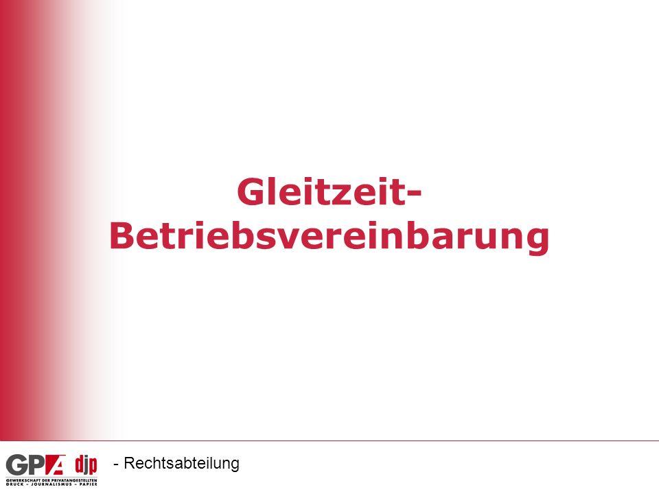 Gleitzeit-Betriebsvereinbarung
