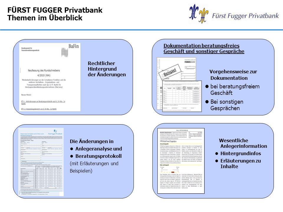 FÜRST FUGGER Privatbank Themen im Überblick