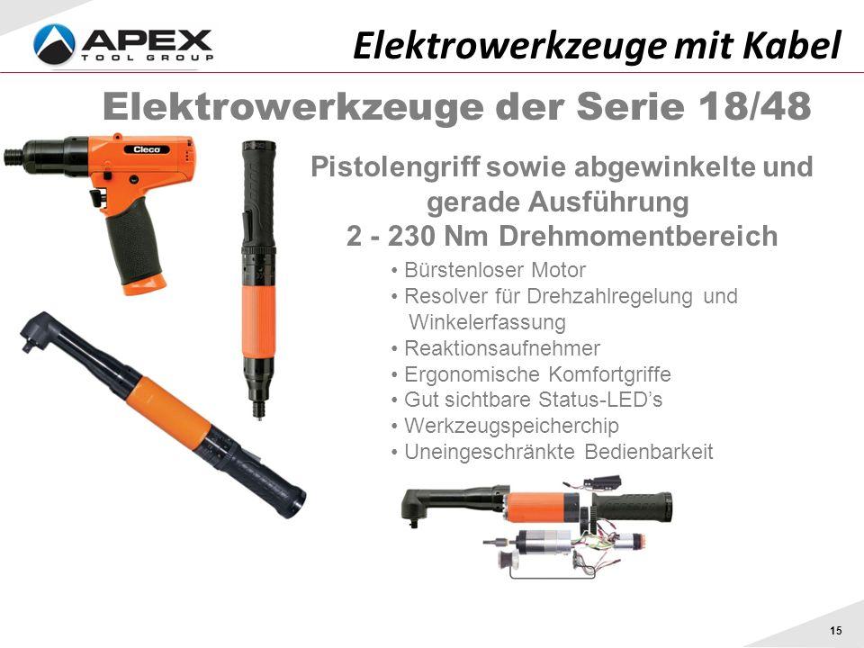 Elektrowerkzeuge mit Kabel