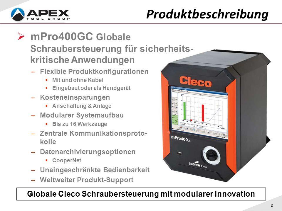 Globale Cleco Schraubersteuerung mit modularer Innovation