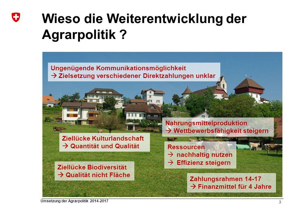 Wieso die Weiterentwicklung der Agrarpolitik