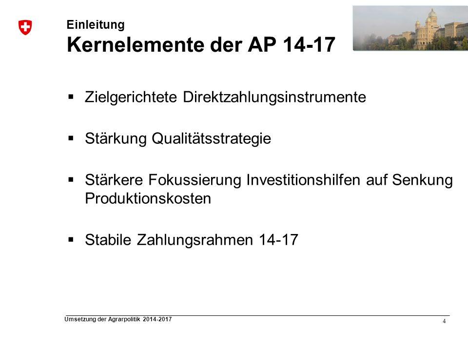 Einleitung Kernelemente der AP 14-17