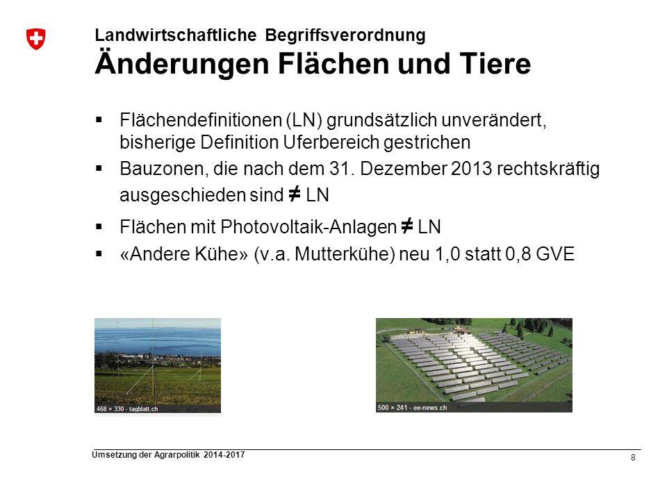 Flächen mit Photovoltaik-Anlagen ≠ LN