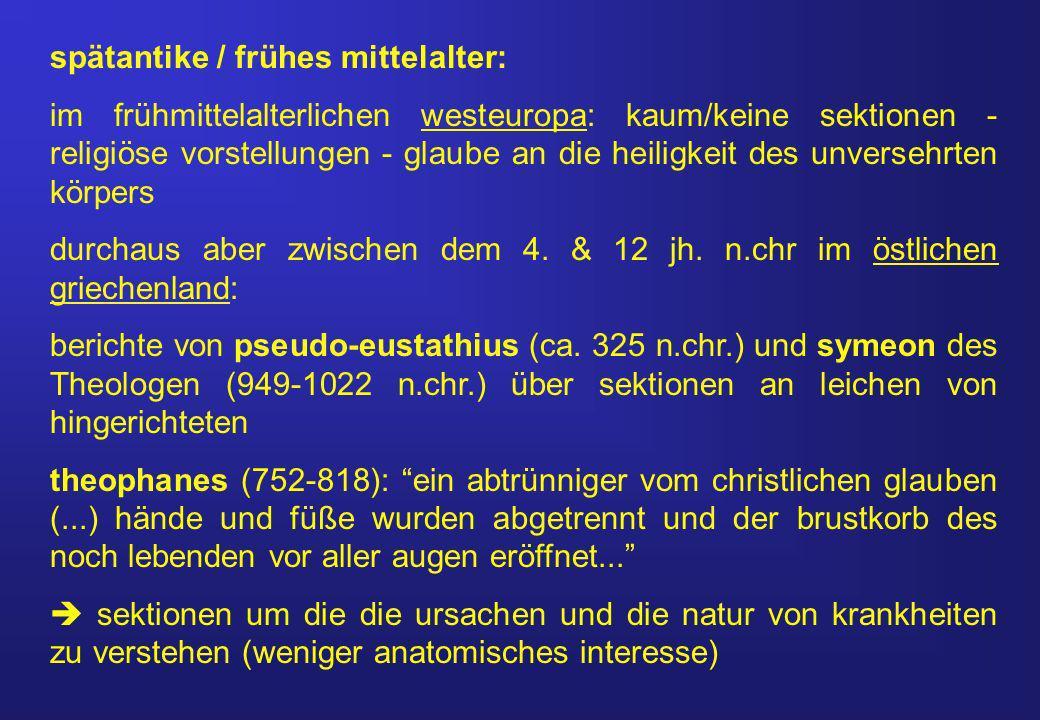 spätantike / frühes mittelalter: