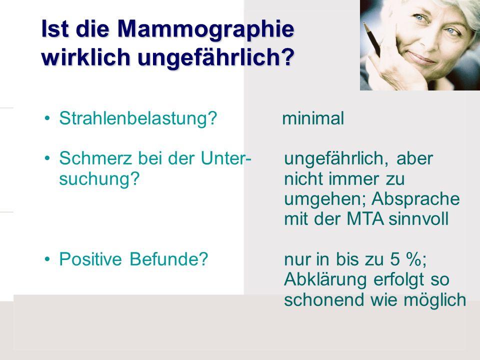 Ist die Mammographie wirklich ungefährlich