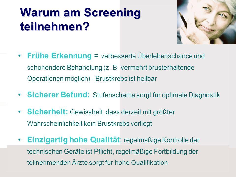 Warum am Screening teilnehmen