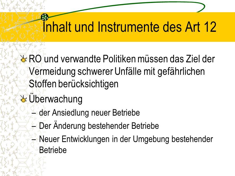 Inhalt und Instrumente des Art 12