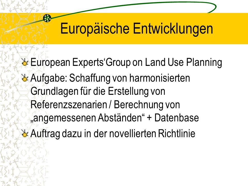 Europäische Entwicklungen