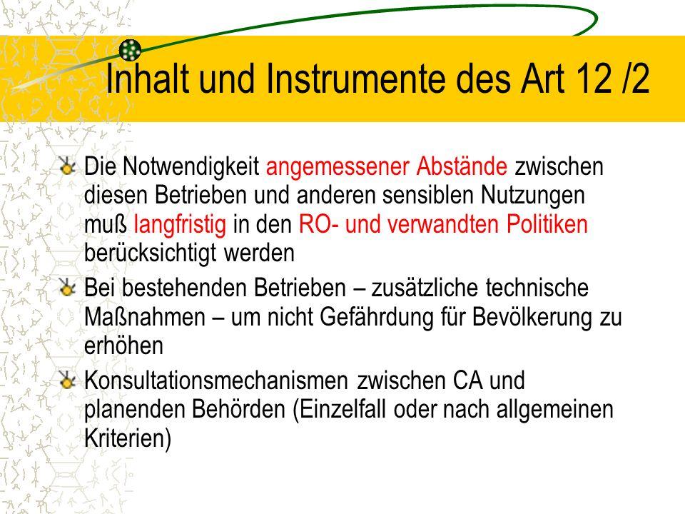 Inhalt und Instrumente des Art 12 /2