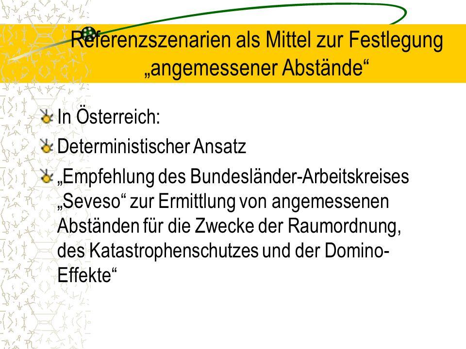 """Referenzszenarien als Mittel zur Festlegung """"angemessener Abstände"""