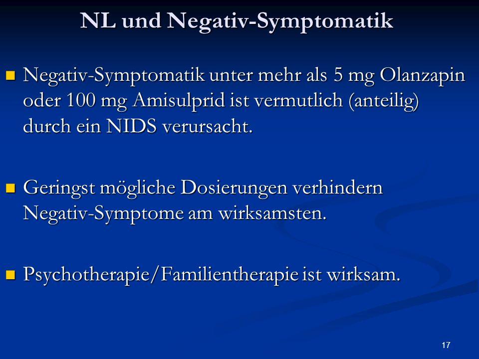 NL und Negativ-Symptomatik