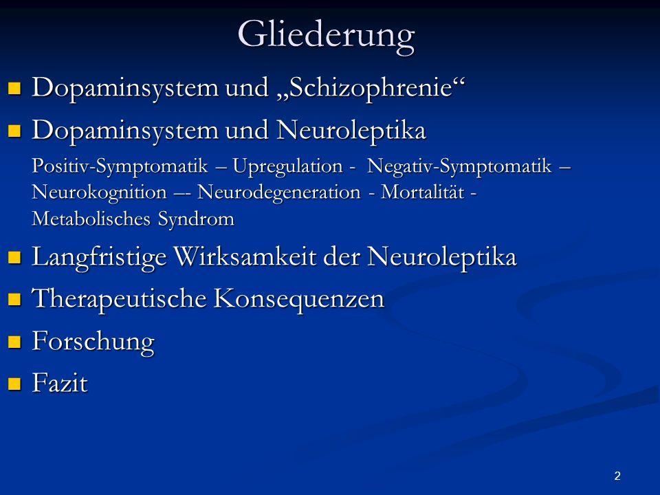 """Gliederung Dopaminsystem und """"Schizophrenie"""