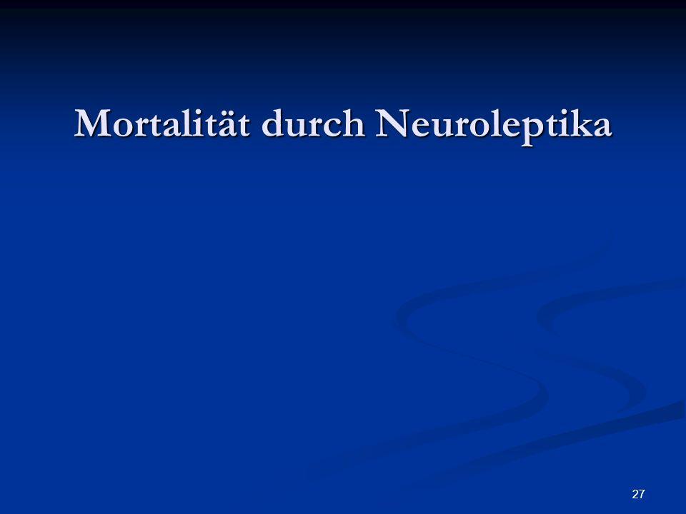 Mortalität durch Neuroleptika