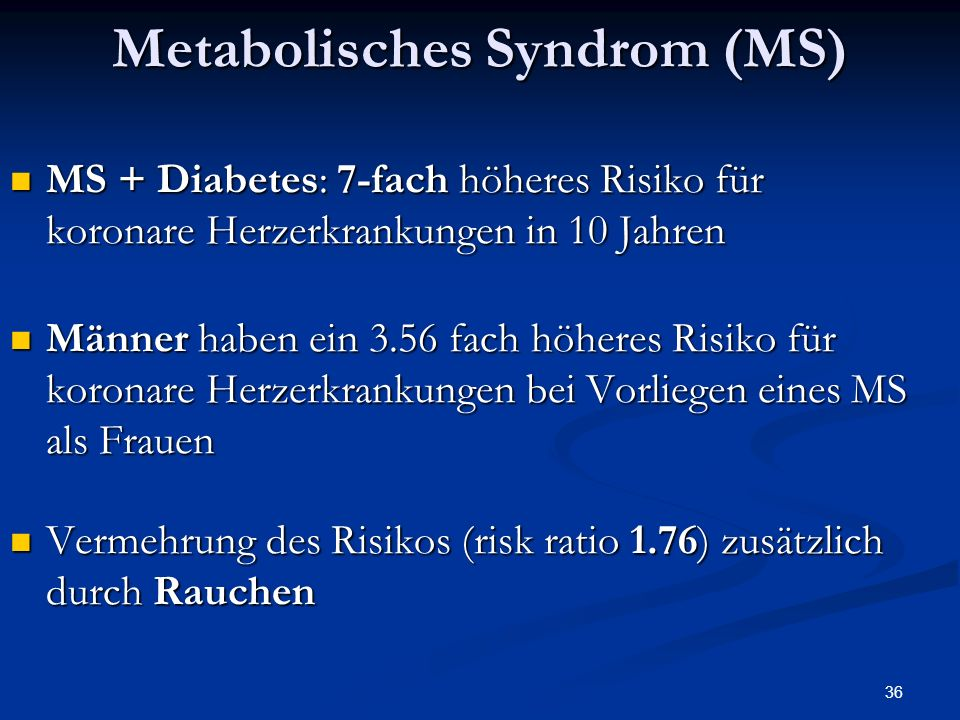 Metabolisches Syndrom (MS)