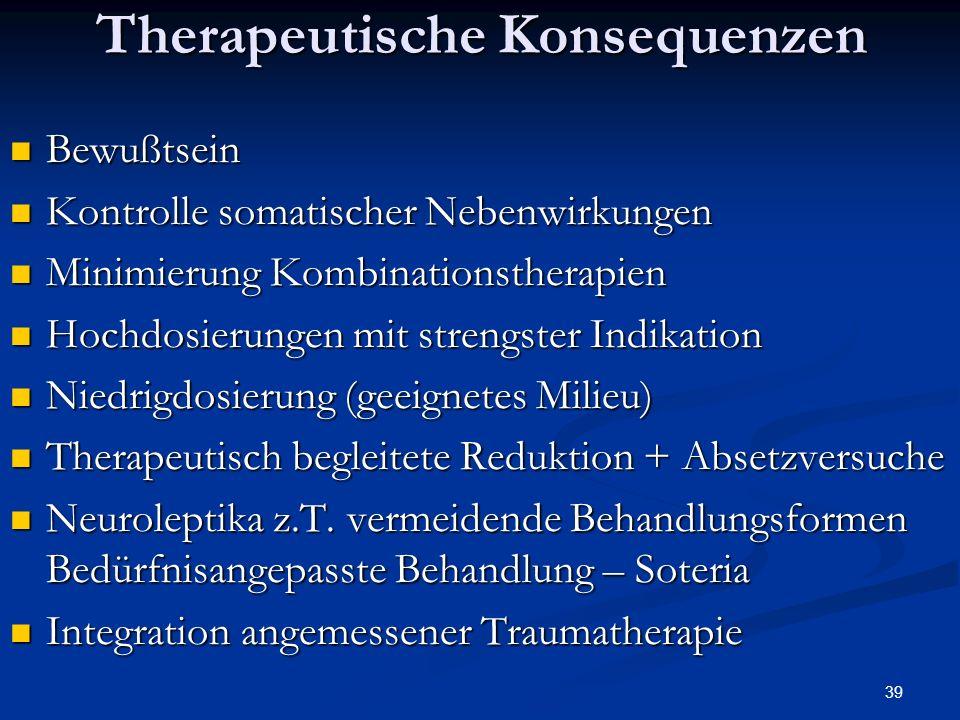 Therapeutische Konsequenzen