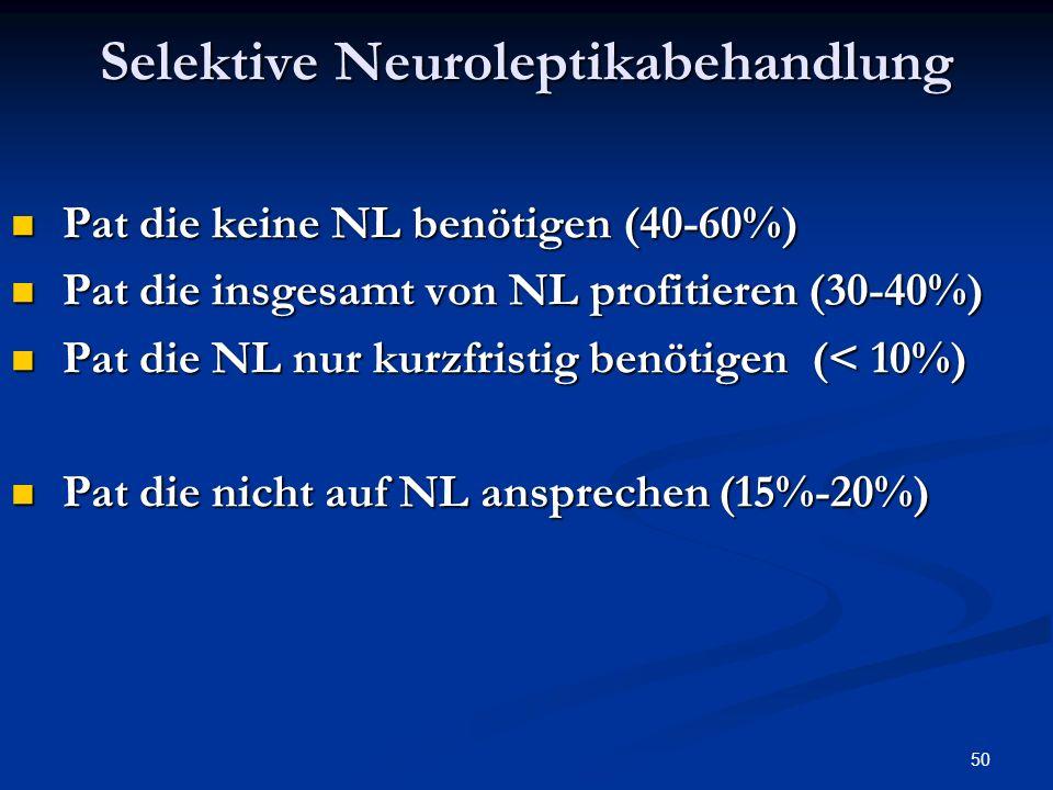 Selektive Neuroleptikabehandlung