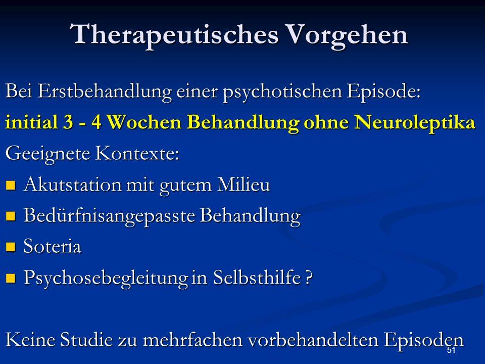 Therapeutisches Vorgehen