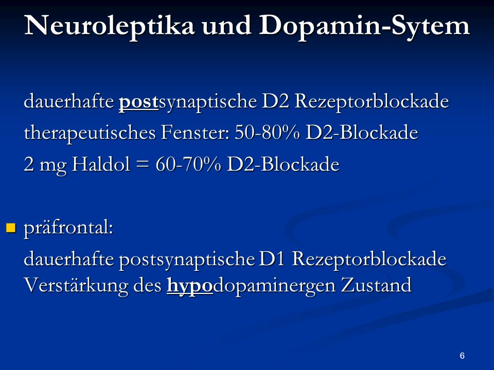 Neuroleptika und Dopamin-Sytem