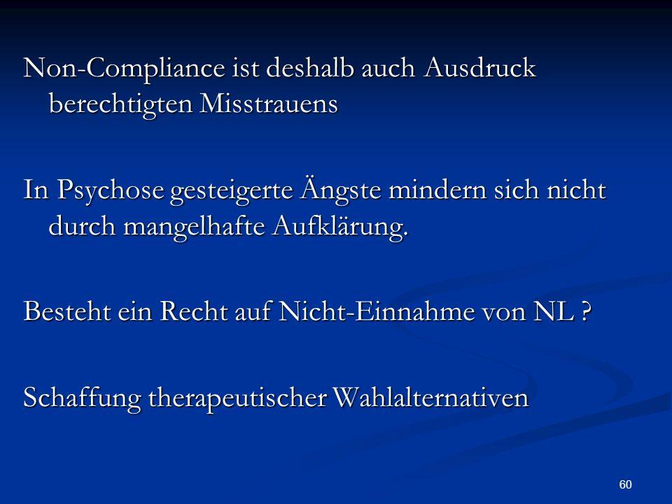 Non-Compliance ist deshalb auch Ausdruck berechtigten Misstrauens