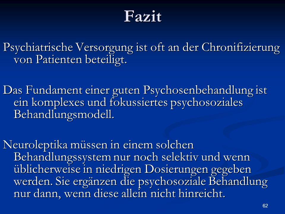 Psychiatrische Versorgung ist oft an der Chronifizierung von Patienten beteiligt.