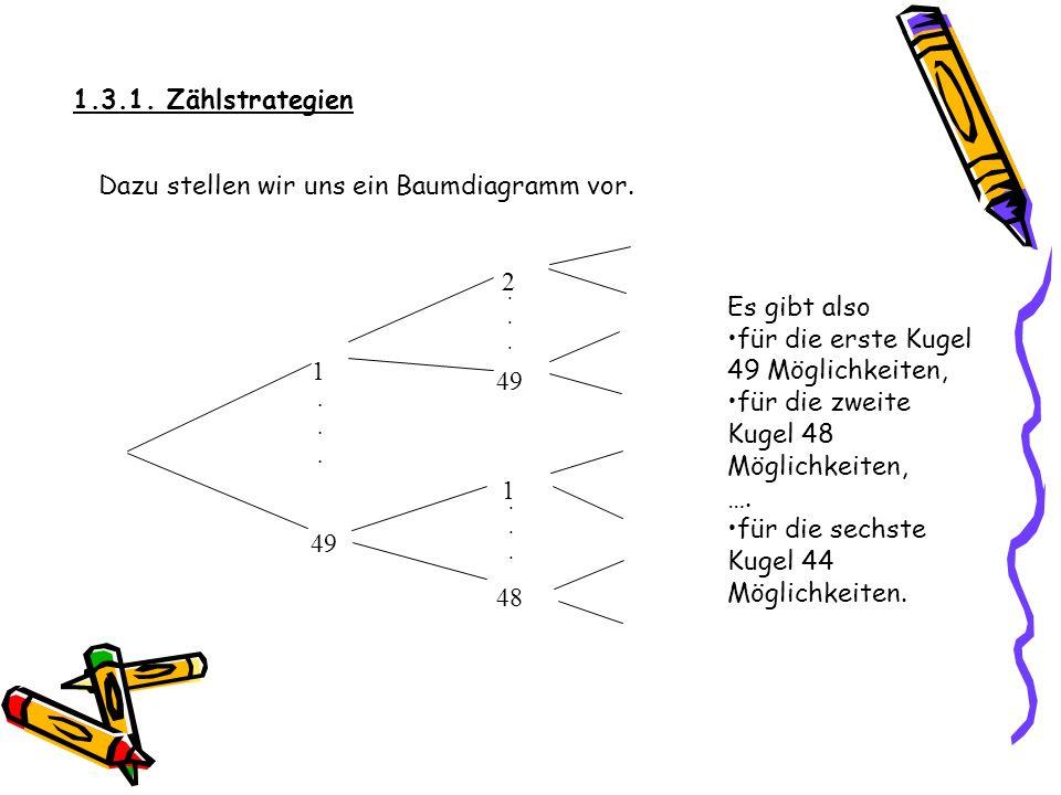 Dazu stellen wir uns ein Baumdiagramm vor.