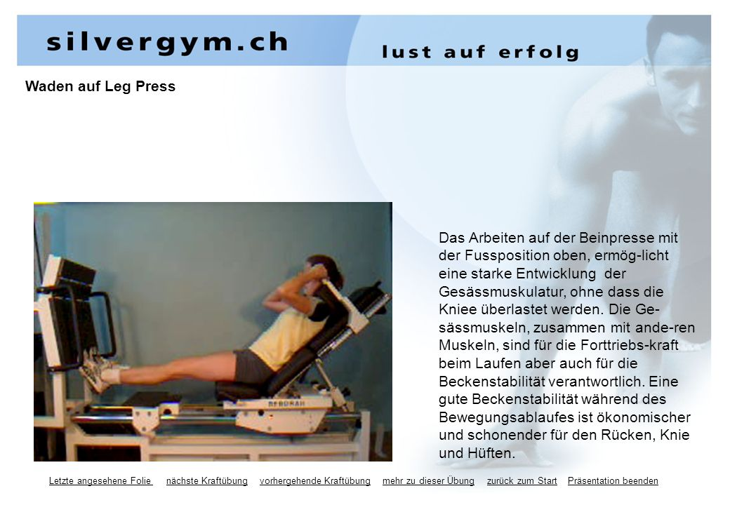 Waden auf Leg Press
