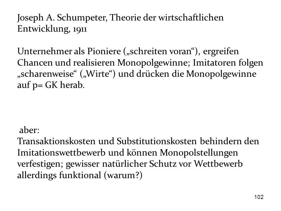 Joseph A. Schumpeter, Theorie der wirtschaftlichen Entwicklung, 1911
