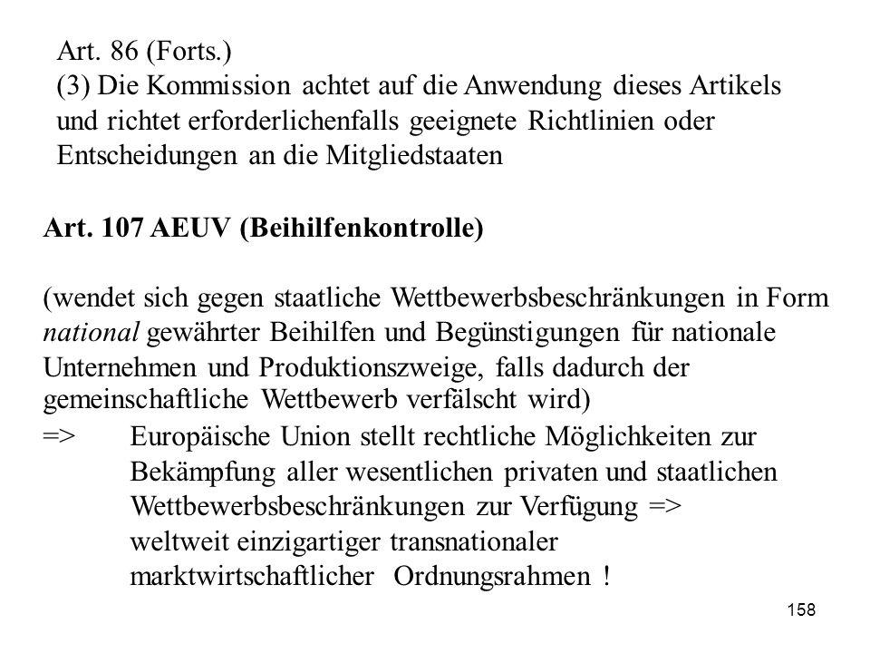Art. 107 AEUV (Beihilfenkontrolle)