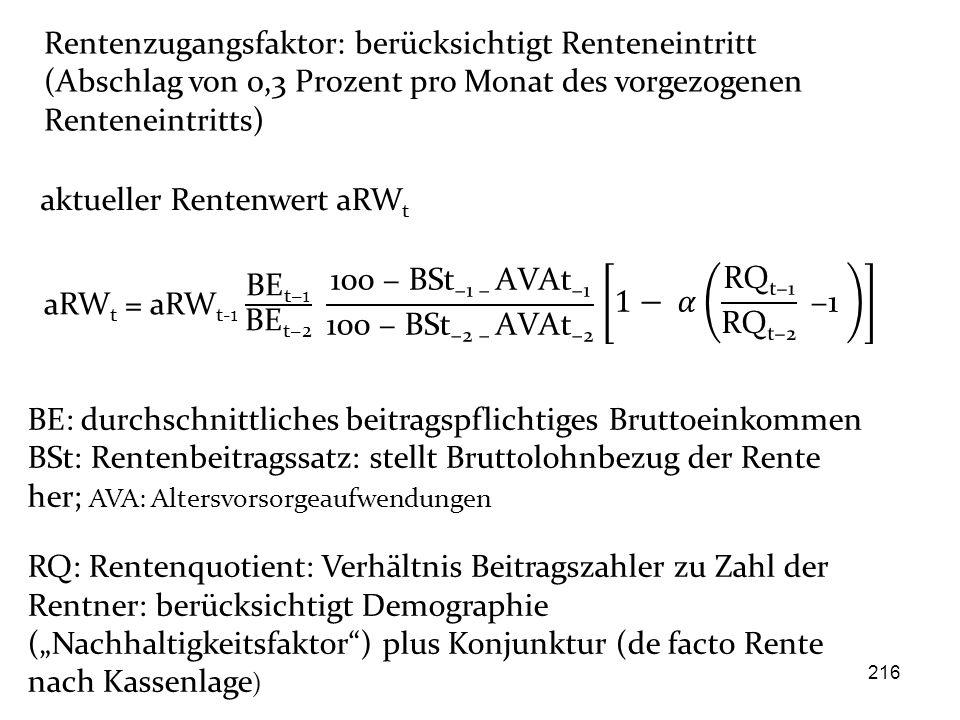 aktueller Rentenwert aRWt