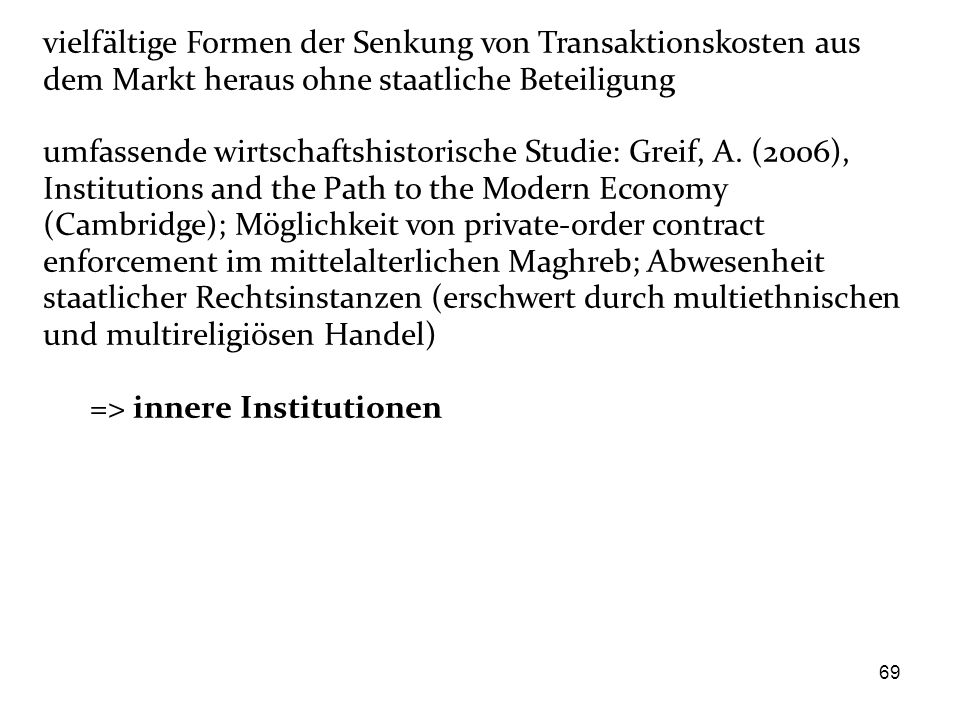 => innere Institutionen