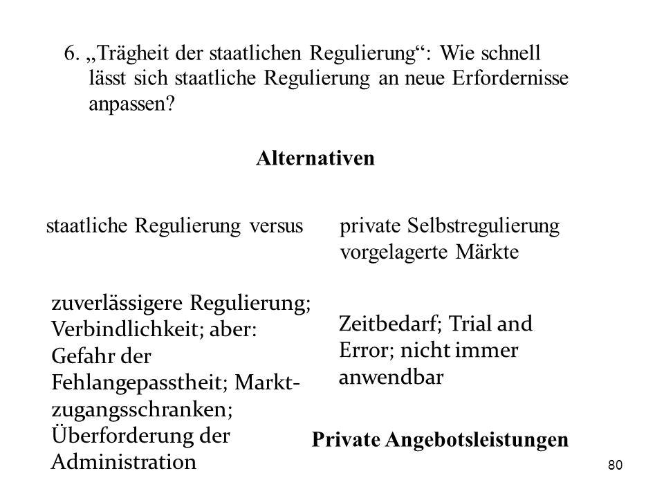 Private Angebotsleistungen