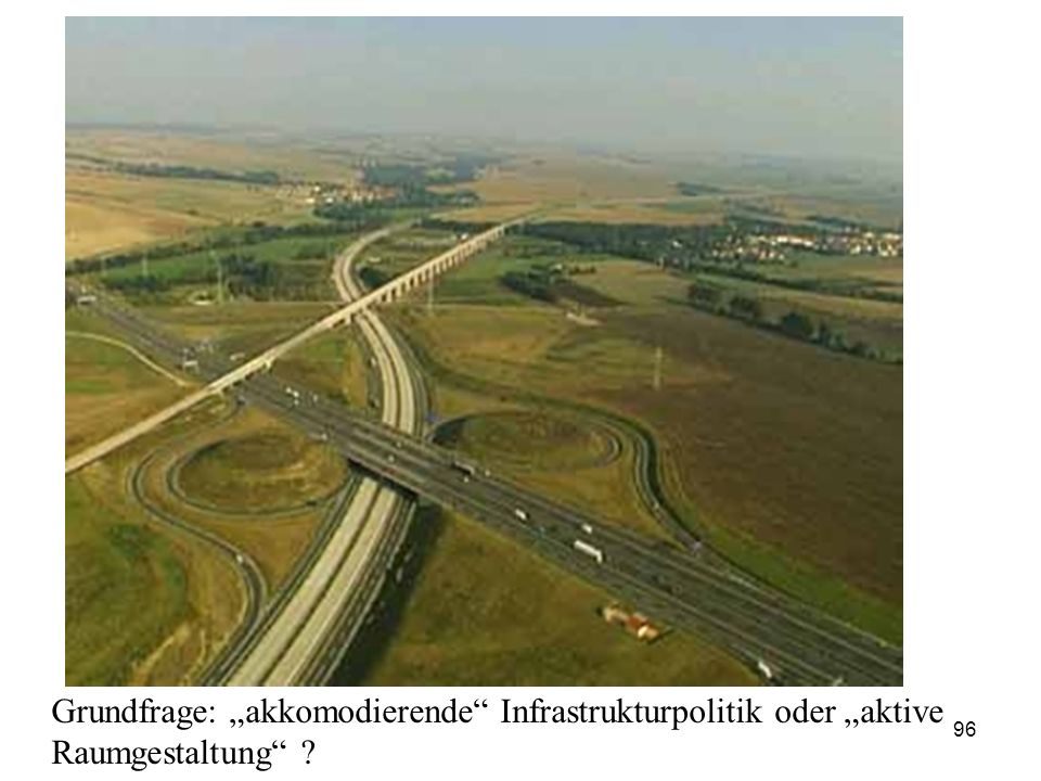 "Grundfrage: ""akkomodierende Infrastrukturpolitik oder ""aktive Raumgestaltung"