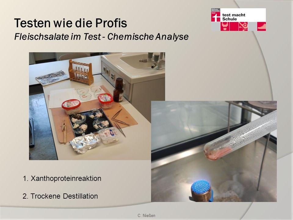 Testen wie die Profis Fleischsalate im Test - Chemische Analyse