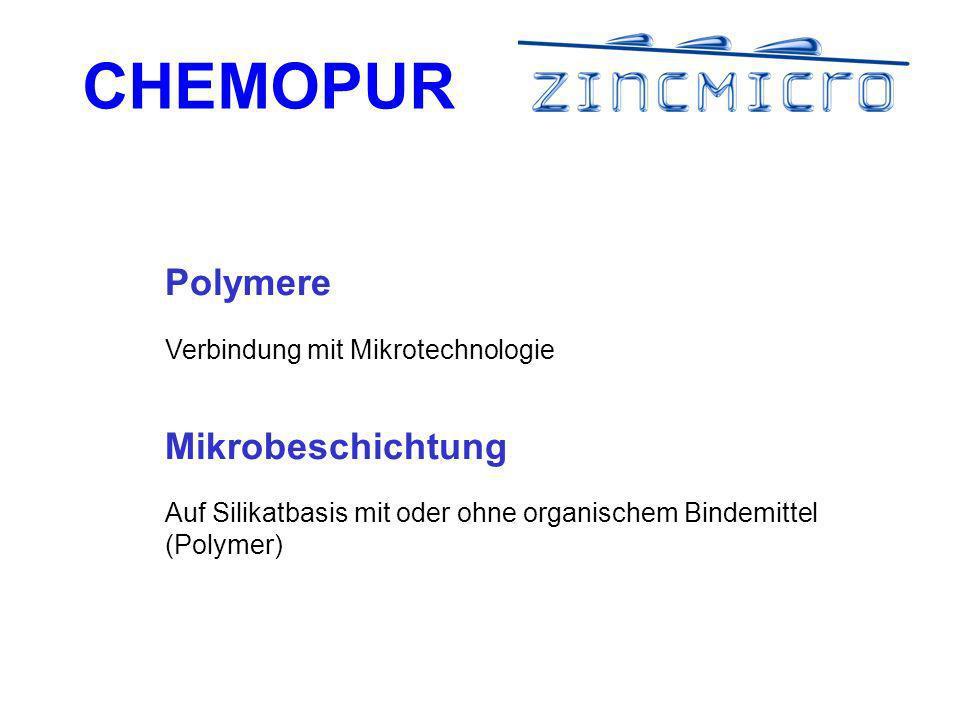 Polymere Mikrobeschichtung Verbindung mit Mikrotechnologie