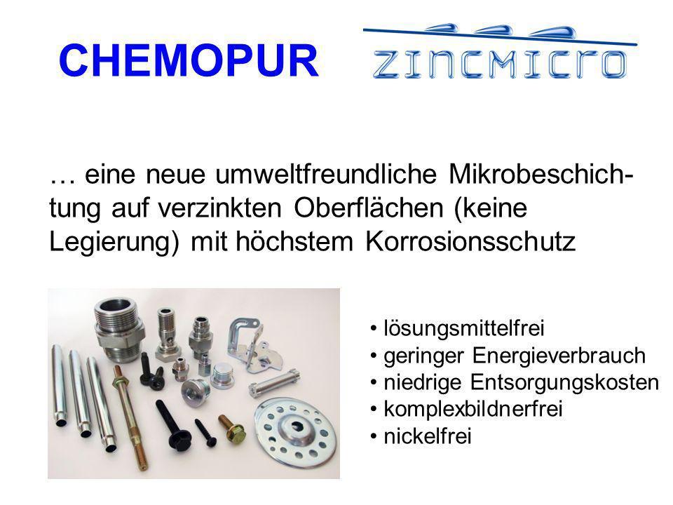 … eine neue umweltfreundliche Mikrobeschich-tung auf verzinkten Oberflächen (keine Legierung) mit höchstem Korrosionsschutz