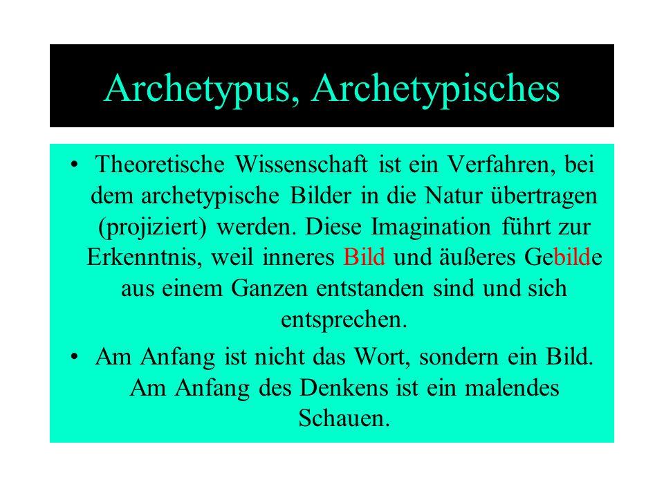 Archetypus, Archetypisches