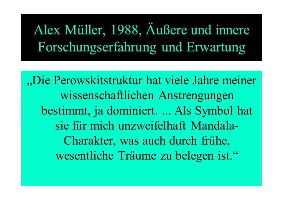 Alex Müller, 1988, Äußere und innere Forschungserfahrung und Erwartung