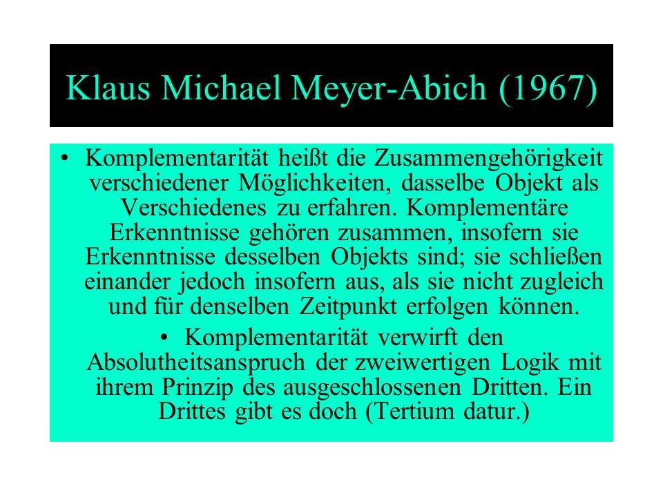 Klaus Michael Meyer-Abich (1967)