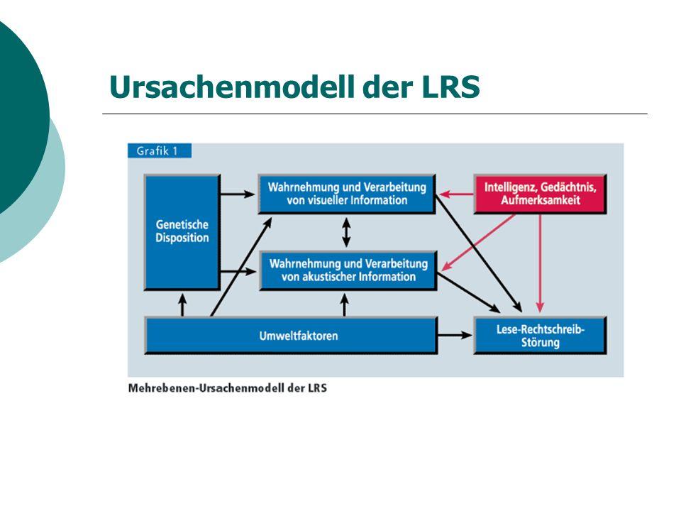Ursachenmodell der LRS