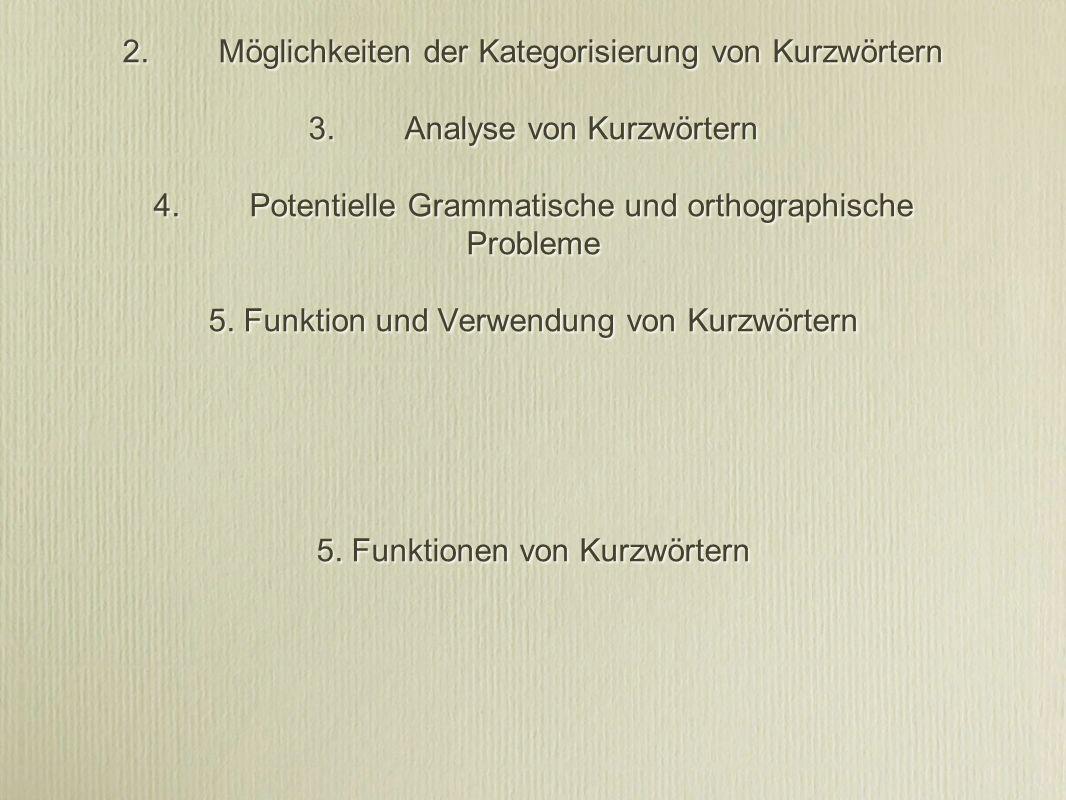1. Unterschiedliche Terminologien 2