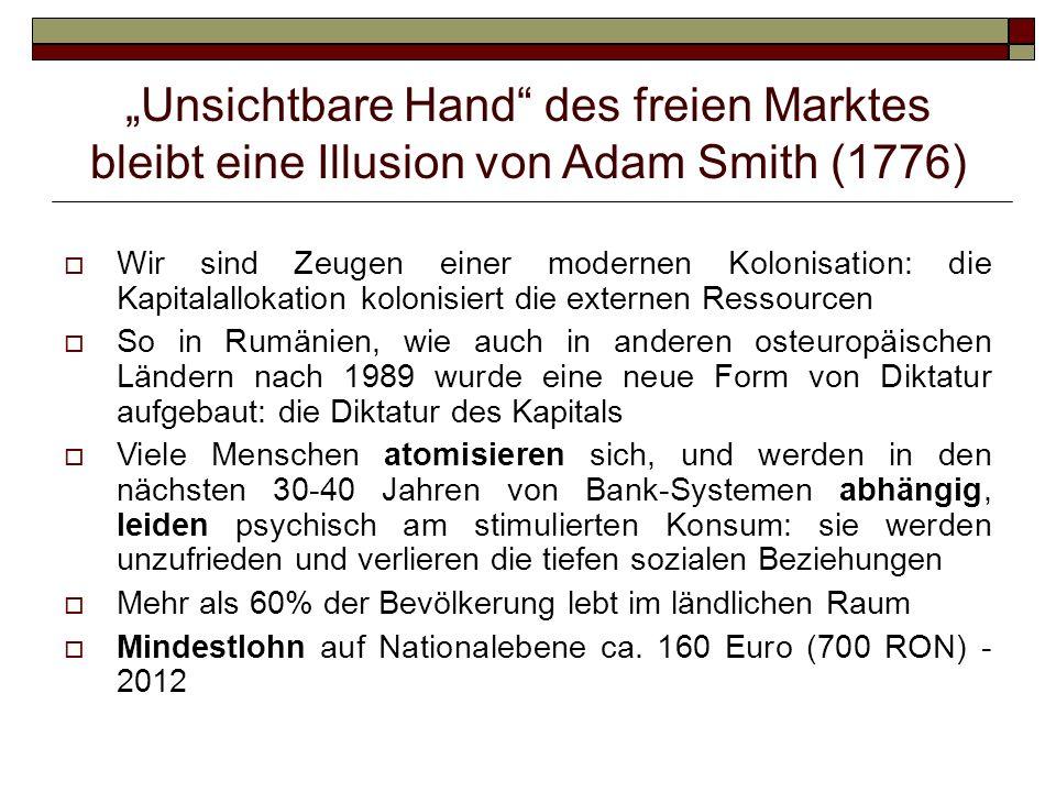 """""""Unsichtbare Hand des freien Marktes bleibt eine Illusion von Adam Smith (1776)"""