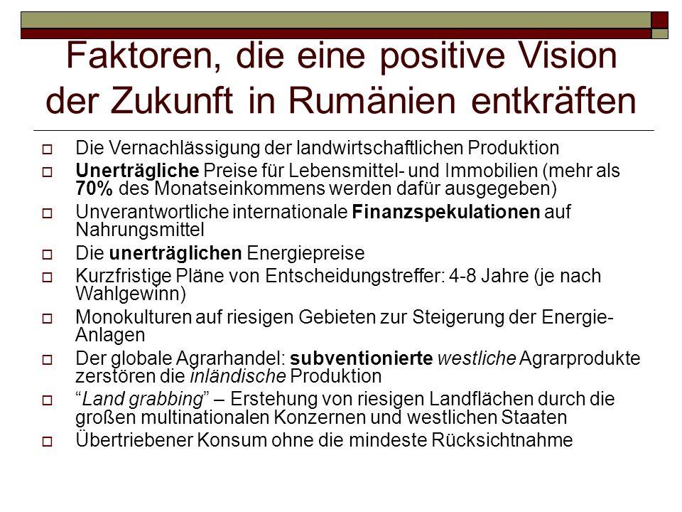 Faktoren, die eine positive Vision der Zukunft in Rumänien entkräften