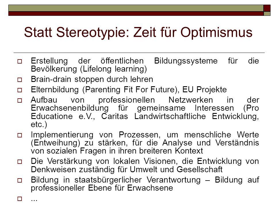 Statt Stereotypie: Zeit für Optimismus