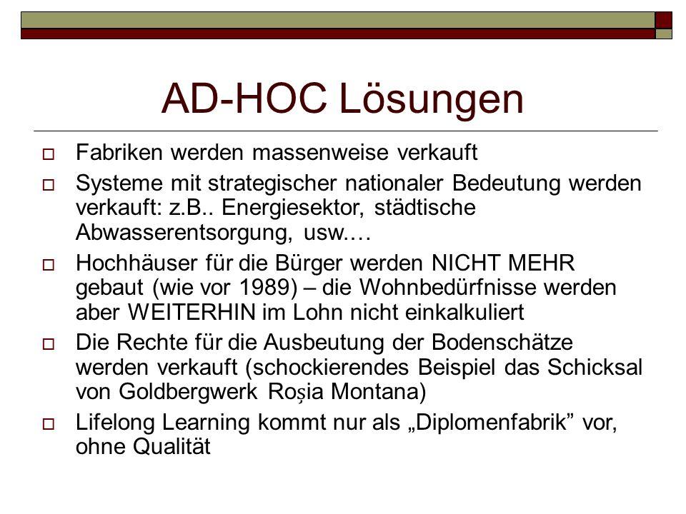 AD-HOC Lösungen Fabriken werden massenweise verkauft