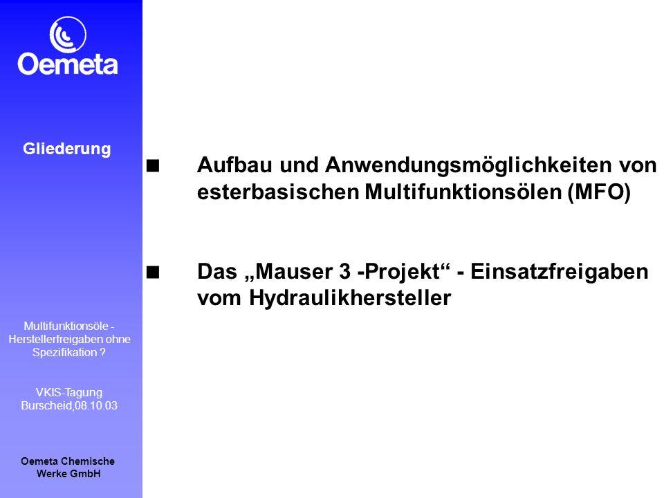 """Das """"Mauser 3 -Projekt - Einsatzfreigaben vom Hydraulikhersteller"""