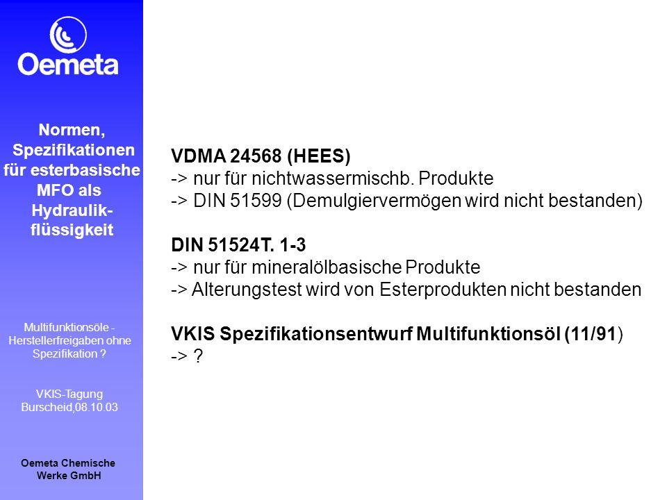 -> nur für nichtwassermischb. Produkte