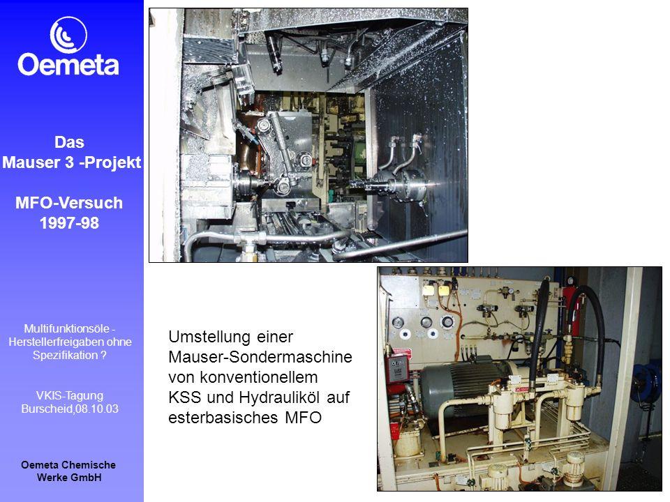 Das Mauser 3 -Projekt. MFO-Versuch. 1997-98.