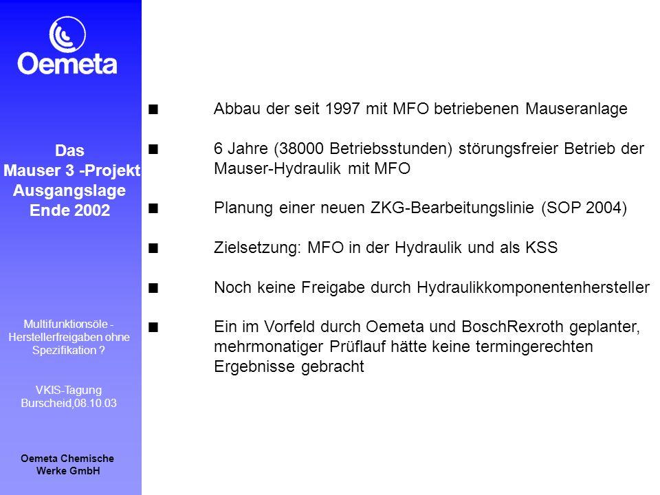 Abbau der seit 1997 mit MFO betriebenen Mauseranlage