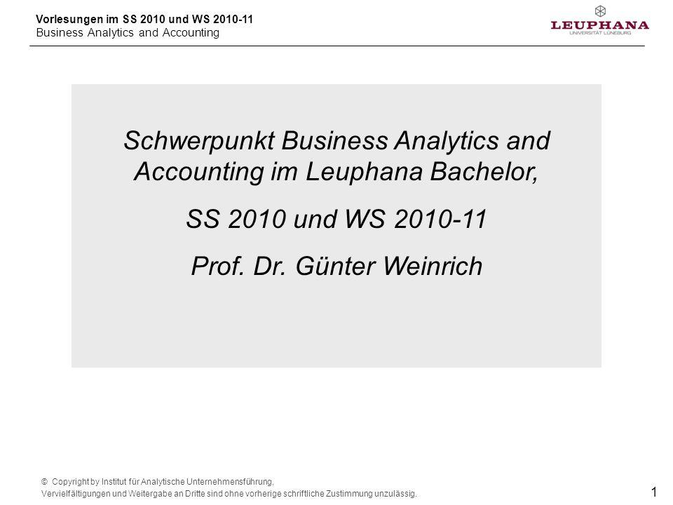 Schwerpunkt Business Analytics and Accounting im Leuphana Bachelor,